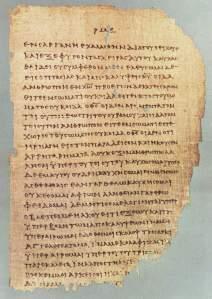 Fragment of Gospel John
