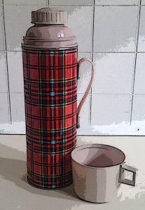 Vintage thermos tartanv2b