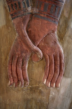 detail of Seti I  & Hathor