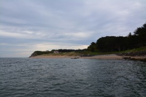 First glimpse of Caldey