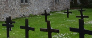 St David's church wood crosses