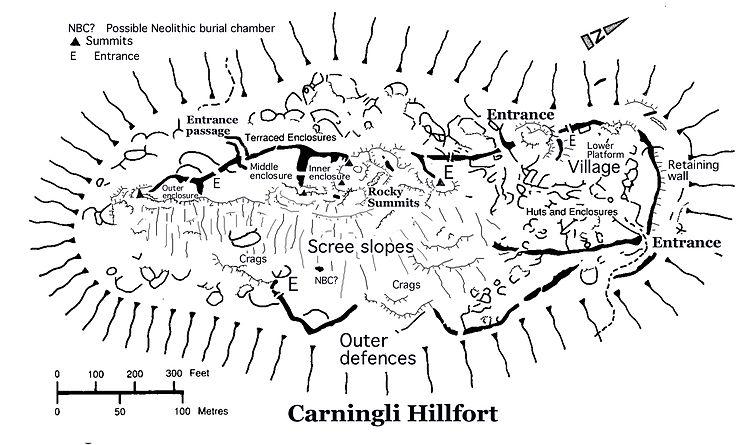 Carningli_hillfort map by Brian John