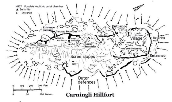 Carningli_hillfort map by Brian John