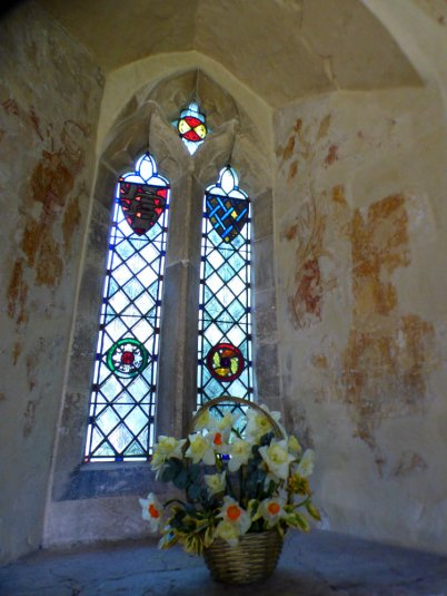 St Francis and the birds, All Saints, Little Kimble.