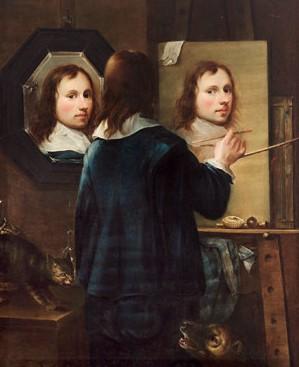 Johannes Gumpp, painting his self-portrait